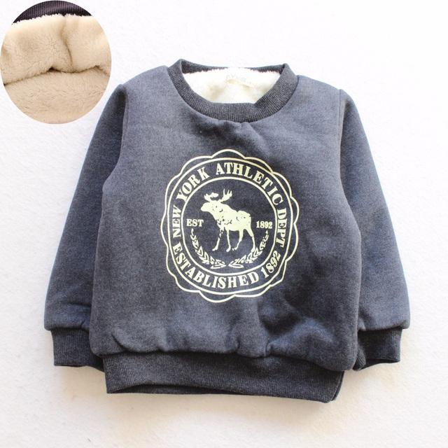 BibiCola Baby Boy Girl Tops Coat Children Outerwear Thicken Plus Velvet Warm Sweater Kids Coat Children's Winter Girls clothing
