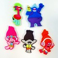 New 5pcs Trolls PVC Kid's Gift  Shoe Charms/shoe accessories/shoe decorate for shoe/ Wristbands kids party gift