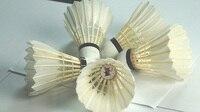 国際ガチョウの羽コンポジットコルクバドミントンシャトルコック12ピース/チューブ無料shjpping