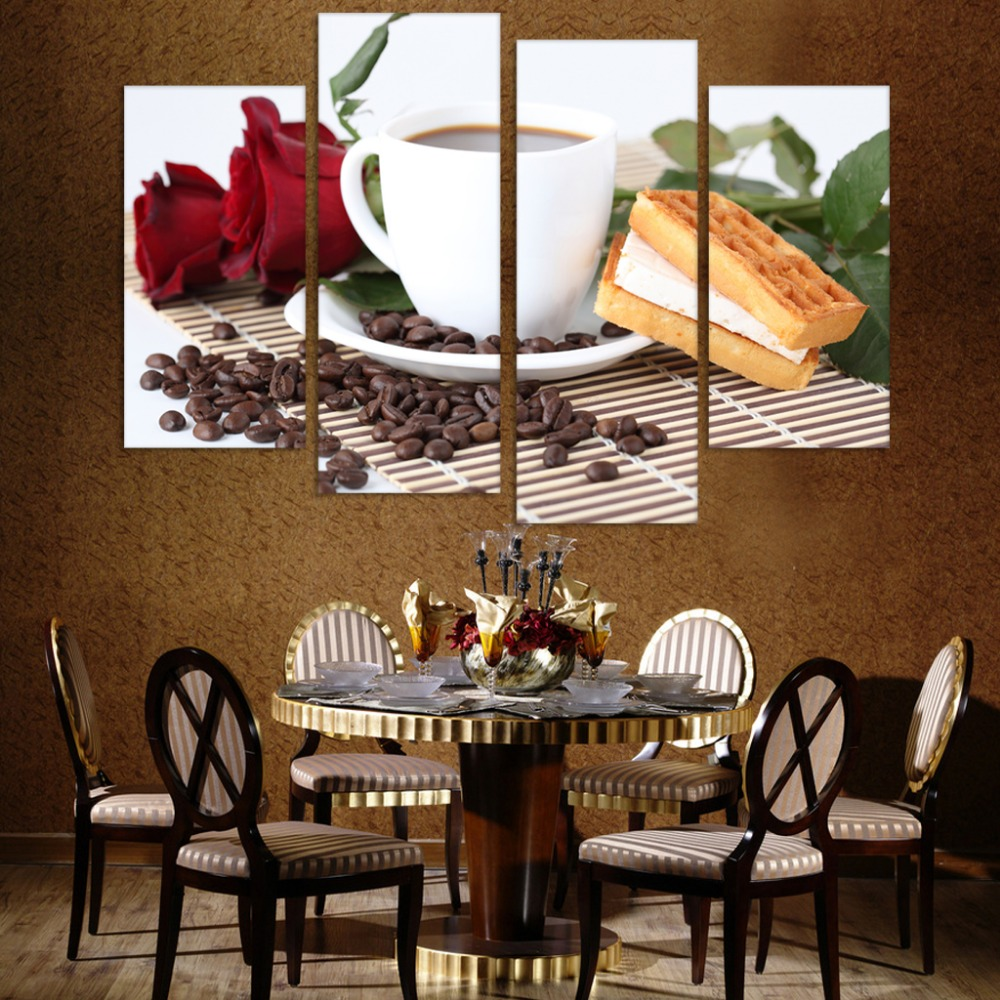Canvas Print Painting Artwork Cafe Styles Coffee Beans