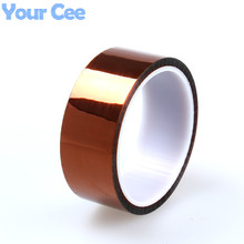 35mm x 33m High Temperature Resistant Tape Heat Dedicated Tape Polyimide Tape for BGA PCB SMT 3D Printer Up to 250 Celsius