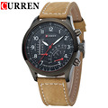 2016 Luxury Men Famous Brand Watch Casual Sports Men Watches Leather Strap Quartz-Watch Military Male Wristwatch Men Clock