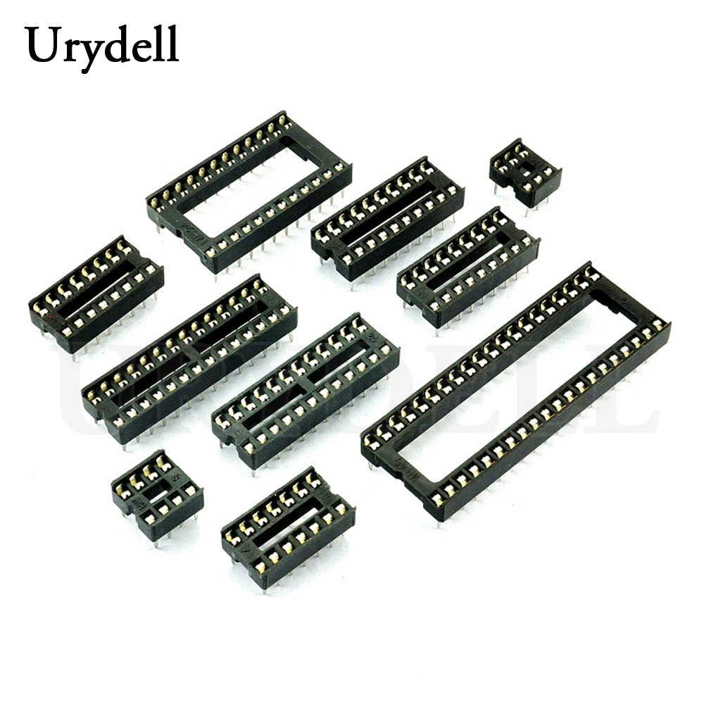 20 pcs IC ที่นั่ง 6 P 8 P 14 P 16 P 18 P 20 P 24 P 28 P DIP IC Sockets อะแดปเตอร์ประเภท Solder 40 pin แคบ Body DIP ซ็อกเก็ต MCU ที่นั่ง 24PIN