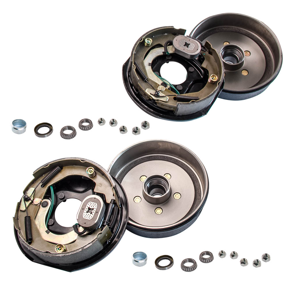 Trailer 5 On 4 Hub Drum Brake Kit 10x2 1 Electric Brakes For 3500 Lbs Axle