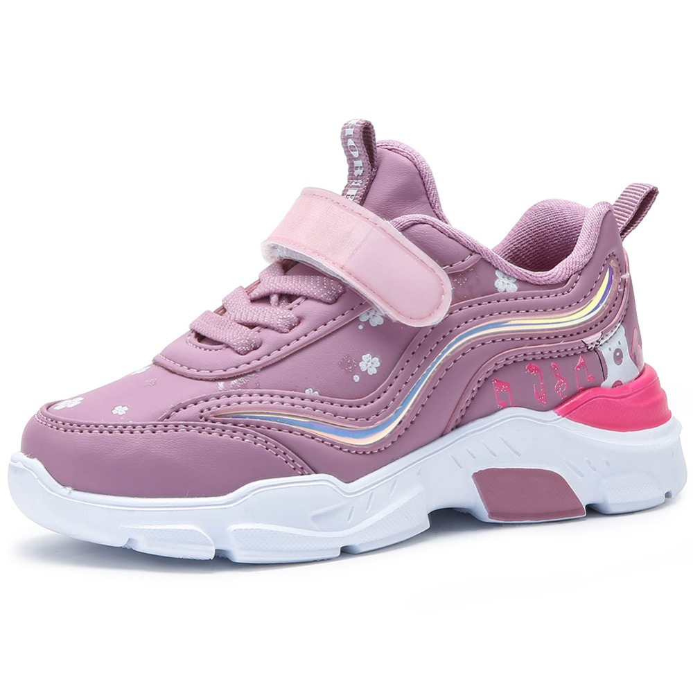 HOBIBEAR Girls Leather Casual Shoes Sport Shoes Baby Wear Teen Sneakers Young Footwear Waterproof Nonslip Sole 2019 Spring New
