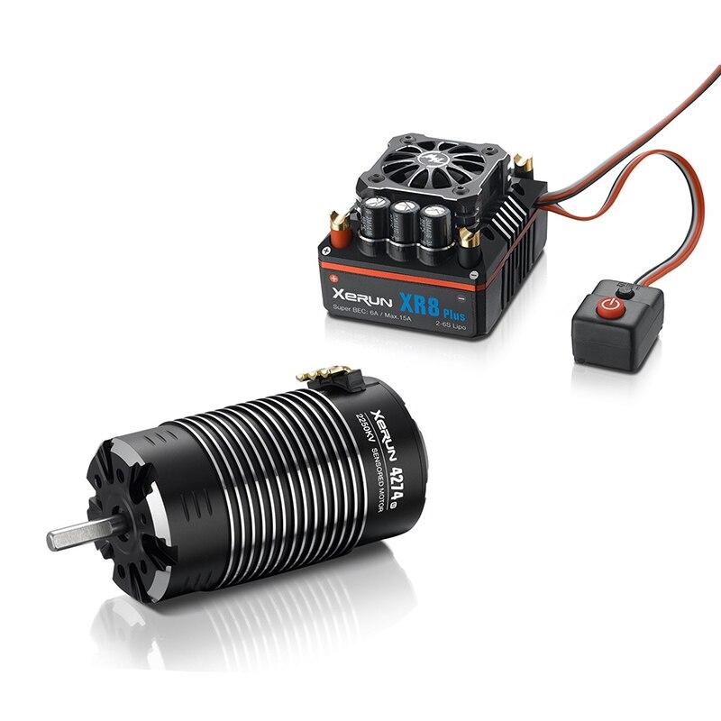 Fatjay HobbyWing XeRun 4274 SD G2 датчиками Бесщеточный 4 полюсный двигатель с XeRun XR8 плюс 150A бесщеточный Сенсорный электронный регулятор хода комбо для ав