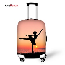 dancing patterns Elastic Luggage Protective Cover Zipper Suit For 18-30 inch Trunk Case Travel Suitcase Covers Bags