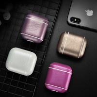 Leather Earphone Case For Apple Airpods Accessories Dust proof Protective Cover Bluetooth Headphone Case Waterproof Bag Case