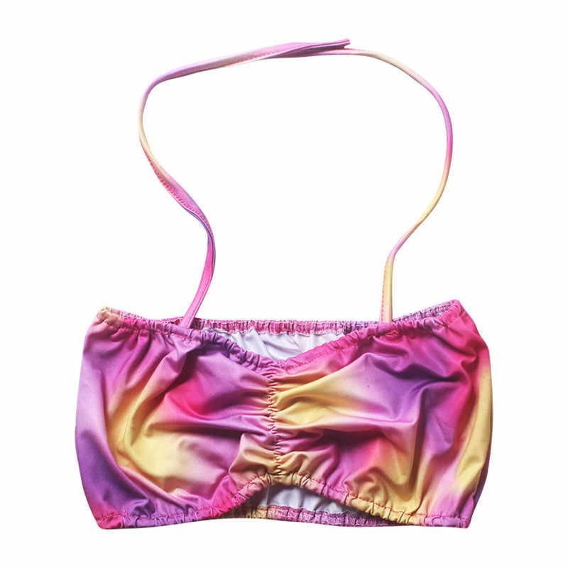 2018 dzieci stroje kąpielowe dla dziewczyn ogon syreny do pływania sea-maid Bikini 3 sztuk zestaw pływać kostium dzieci syrenka strój kąpielowy wiek 3-9Y