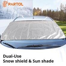 Partol универсальный портативный автомобильный солнцезащитный козырек для бокового окна, Набор чехлов для автомобильного лобового стекла, снежного льда, защитный экран, блок для внедорожника
