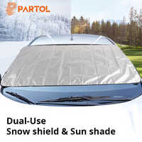 Partol Universal Portable Car Side Window Sunshade Covers Set Automobile Windshield Snow Ice Shield Protective Screen Block SUV