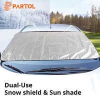 Partol Universal Portable Car Side Window Sunshade Covers Set Automobile Windshield Snow Ice Shield Protective Screen Block SUV