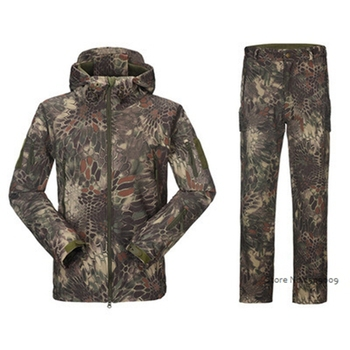 Waterproof Shark Skin Soft Shell Jacket or pants Men Tactical Camouflage Jacket Winter Autumn Coat Military Army Clothes