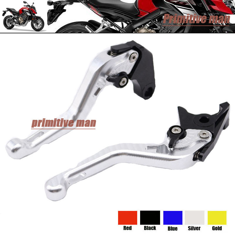 ФОТО For HONDA CB650F CBR650 2014-2015 Motorcycle Accessories Short Brake Clutch Levers Silver