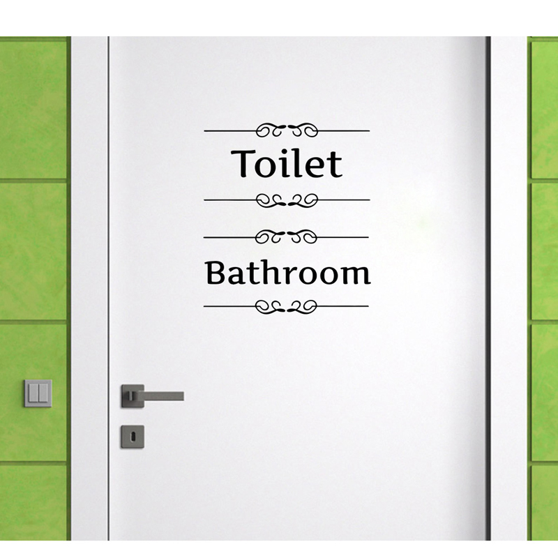 compare prices on bathroom door decal- online shopping/buy low