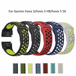 26mm 22mm Soft Silicone Band For Garmin Fenix 3/Fenix 3 HR/Fenix 5 5X Wristband Quick Fit Band Bracelet strap Fashon Watch Bands