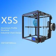 High-Precision DIY X5S 3D Printer Aluminium Profile Printing Machine Large Printing Area 300x300x400mm LCD Screen EU Plug