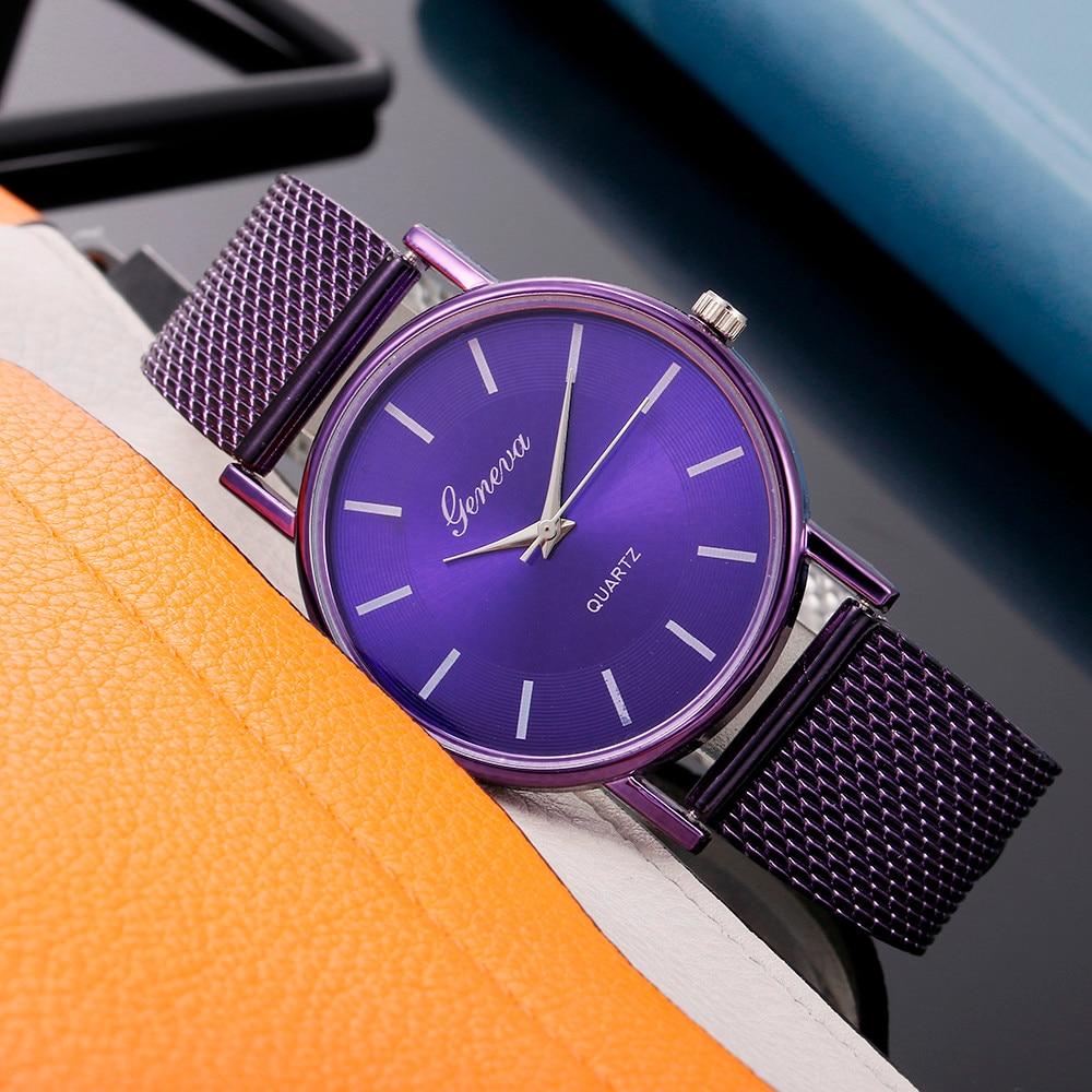 Luxury Watch Clock Bracelet Dress Gift Dial Feminino Stainless-Steel Top-Brand Geneva Women