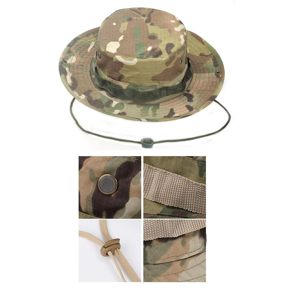 4aefb54ecb5 Outdoor Sports Men   Women s Fishing Hat Camouflage Bucket Hat Fisherman  Camo Ripstop Jungle Bush Hats Boonie Wide Brim Sun Caps-in Fishing Caps  from Sports ...