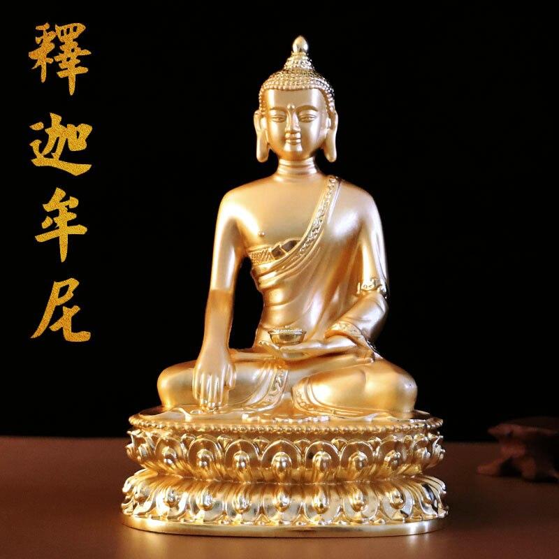 21 CM-bonne statue de bouddha # maison famille Talisman Protection efficace # thaïlande asie du sud-est bouddhisme dorure statue de bouddha