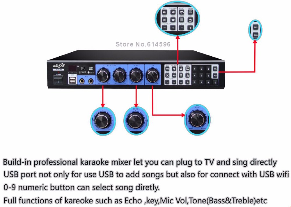 US $580 0  TAGALOG English HDD Karaoke Machine MTV Player, Professional  Home karaoke system ,HDMI, Suport Dual Hard Drive, Androit Tablet-in HDD