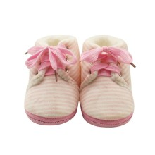 Baby Striped Shoes Winter Non-slip Warm Boys Girls Lovely Fi