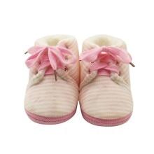 Baby Striped Shoes Winter Non-slip Warm Boys Girls Lovely Fi