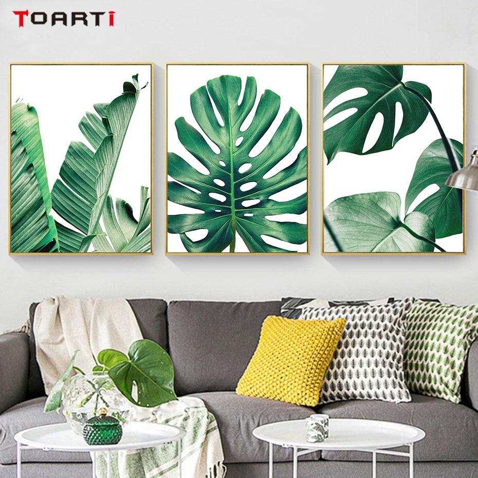 웃 유Estilo nórdico flor planta cactus lienzo pintura cuadros para ...