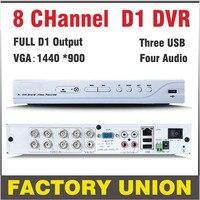 DVR 8 Channel H264 Full D1 Dvr 8ch Recording Support Network Mobile Phone Cctv Dvr Recorder