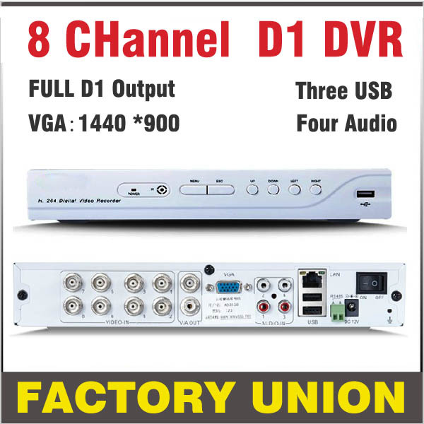 CCTV DVR 8 Channel H.264 Full D1 DVR 8ch Recorder Support Network Mobile Phone DVR Recorder 8ch DVR  CCTV Security System 16channel cif resolution cctv camera recorder dvr h 264 motion detect remote view security system cctv dvr support ptz p2p hdmi