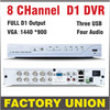 DVR 8 Channel H264 Full D1 Dvr 8ch Recording Support Network Mobile Phone Cctv Dvr Recorder