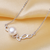 High Quality Fashion Jewelry 925 Sterling Silver Natural 8 9mm Freshwater Pearl Necklace Gifts For Girls