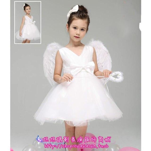 Online shop little angel costume flower girl angel with wings white little angel costume flower girl angel with wings white tutu dress mightylinksfo
