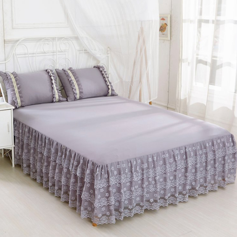 grey bed cover lace bedspreads bed sheet set bed skirt set lace queen size skirt queen bed with. Black Bedroom Furniture Sets. Home Design Ideas