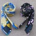Personalidade estreito gravata 7 cm lona de algodão restaurar antigas formas Britânico lazer moda masculina e feminina