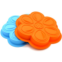 27.8X25CM Flower Shape Muffin Sweet Candy Jelly Fondant Cake Chocolate Mold Silicone Tool Baking Pan, Free shipping