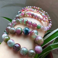 Genuine Natural Watermelon Tourmaline Gems Stone Beads Necklace 4 13mm AAAA