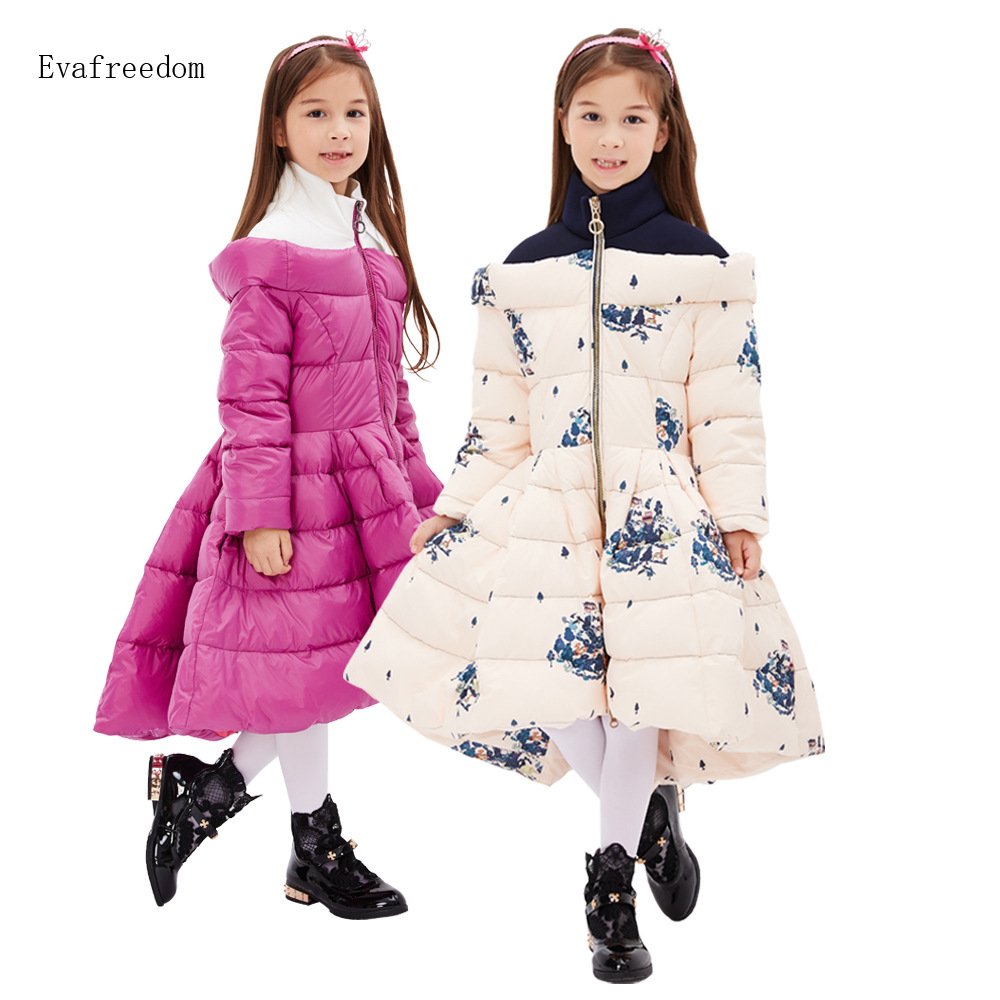 ФОТО Free shipping 2016 Qiu dong new style brands girls down jacket, down jacket in children