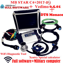Top Quality star diagnosis mb star c4 2017-09 Super version Vediamo+DTS work with Panasonic CF19 Notebook work for car&truck