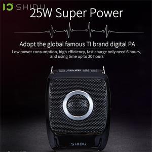 Image 2 - SHIDU 25W Portable Voice Amplifier Waterproof Mini Audio Speaker USB Lautsprecher With UHF Wireless Microphone For Teachers S92