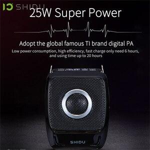 Image 2 - SHIDU 25W 휴대용 음성 증폭기 방수 미니 오디오 스피커 USB Lautsprecher UHF 무선 마이크 교사 S92