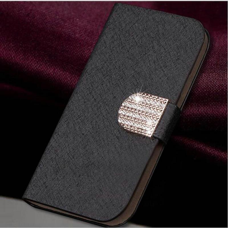 Más nuevos 5 colores cajas del teléfono móvil cubierta de cuero de lujo elegante
