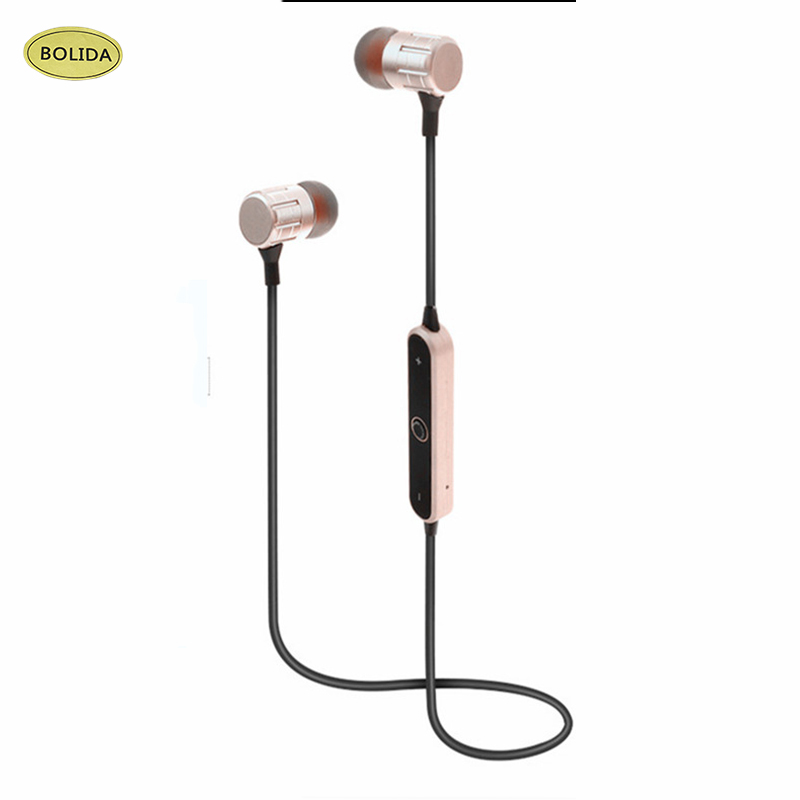Bolida Sports Bluetooth Earphones Stereo wireless headset 4.1 wireless headphones Microphone Noise-cancelling Earbud