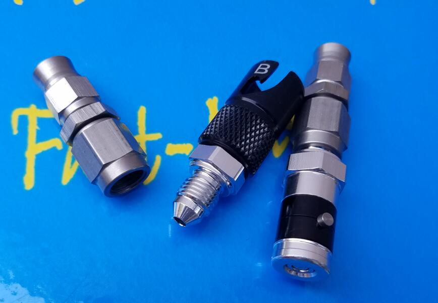 AN 3 AN3 Brake Line Fluid Quick Release disconnect Connector Fitting Adapter with 2pcs 3an adaptor