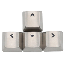 Teamwolf สแตนเลส MX silver สีโลหะ keycap สำหรับคีย์บอร์ด gaming key arrow key ผ่าน back lit