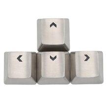 Teamwolf edelstahl MX Keycap silber farbe metall keycap für mechanische tastatur gaming schlüssel pfeil schlüssel licht durch zurück lit