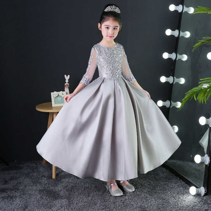 Kids Girl Formal Birthday Party Appliques Ball Gown Princess Dress Children Girls Summer Flower Evenig Wedding Lace Dresses E149Kids Girl Formal Birthday Party Appliques Ball Gown Princess Dress Children Girls Summer Flower Evenig Wedding Lace Dresses E149