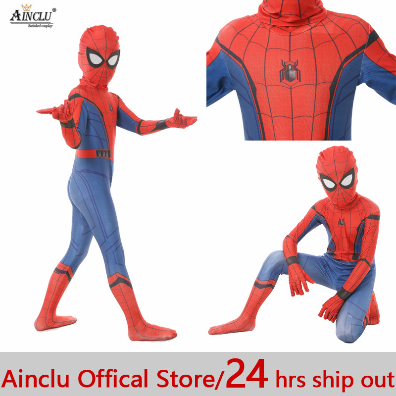 Ainclu 24 hrs Out Kid Spiderman Civil War Spiderman Costumes Spiderman Cosplay Custom Suit Halloween Party Costume Kid Costumes