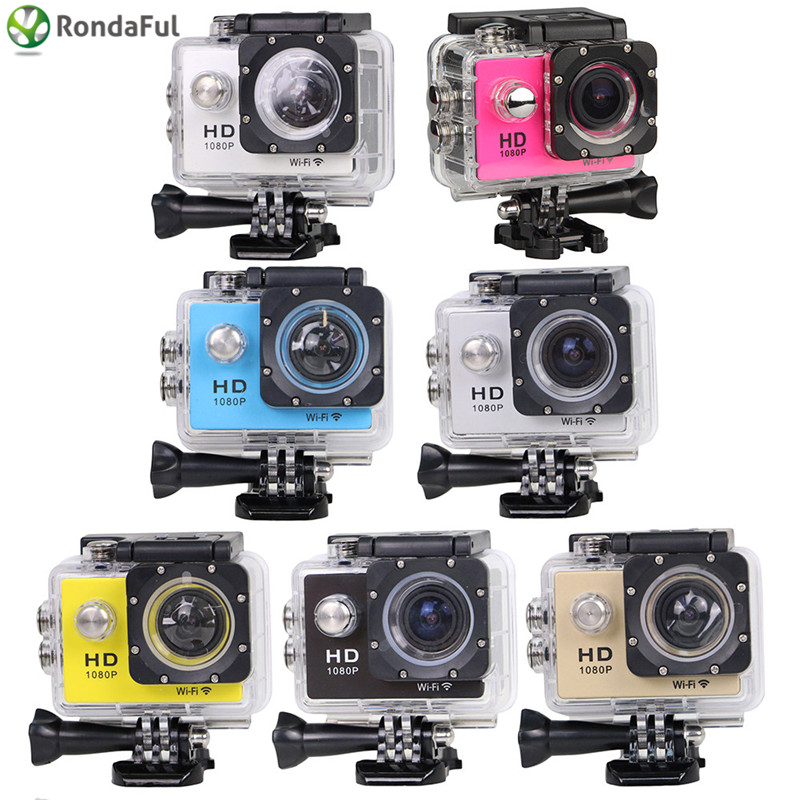 WiFi Version Camera W8 1080P Digital Waterproof Helmet Sports Action Camera Extreme Sport DV Car DVR Diving  Camcorder original sjcam wifi version sj4000 wifi 1080p full hd gopro camera style extreme sport dv action camera diving 30m waterproof