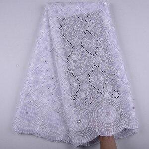 Image 5 - Oignon, dentelle suisse Voile, en suisse, tissu coton, africain, tissu en dentelle de coton sec nigérian, homme, 5Yards, Y1468